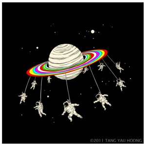 Saturn Go Round by Tang Yau Hoong